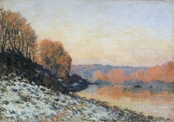 Alfred Sisley. Winter