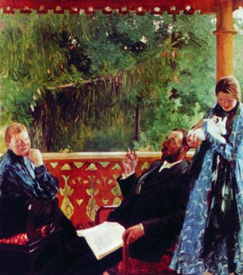 Boris Mikhailovich Kustodiev. Portrait of a family of Balenovich (Family portrait)