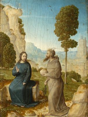 Juan De Flandes. The Temptation of Christ