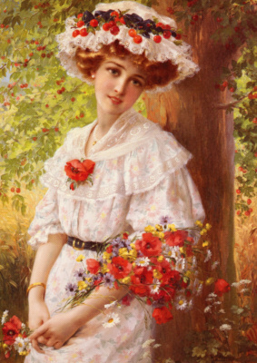 Emile Vernon. Under the cherry tree