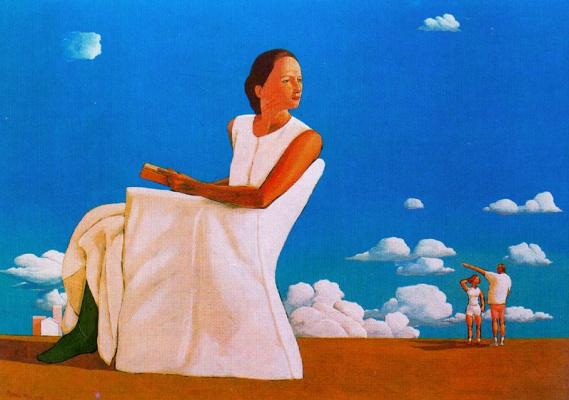 Марко Манцелла. Девушка в белом платье