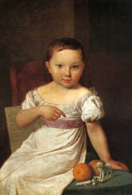 Alexey Gavrilovich Venetsianov. Portrait Of Nastenka Khavskaya