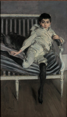 Giovanni Boldini. Portrait of a young Syuberkazo