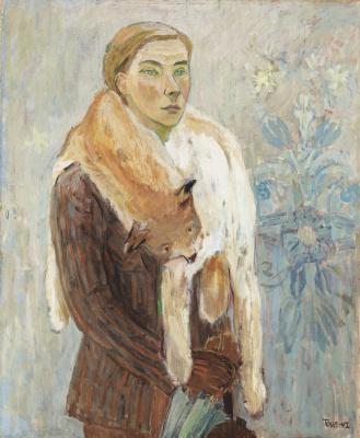 Tove Jansson. Self portrait. Boa from lynx