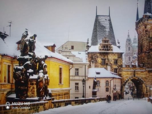 Anastasia Zamurueva. Winter Prague