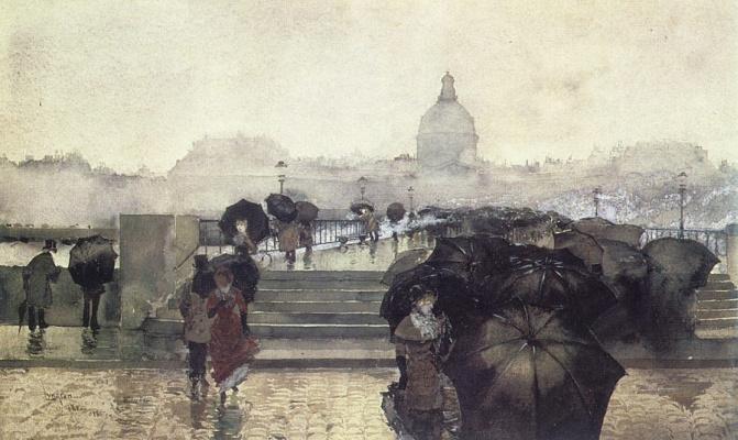 Черные зонты