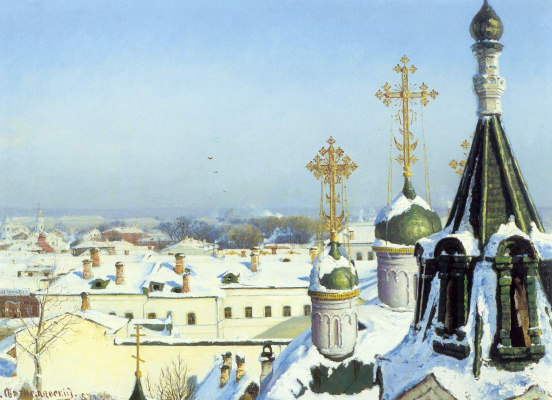 Sergey Ivanovich Svetoslavsky. From the window of the Moscow school of painting