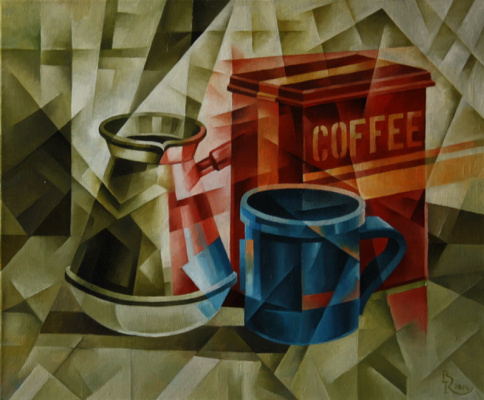 Vasily Krotkov. Coffee. Kubofuturizm