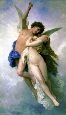 William-Adolphe Bouguereau. Cupid and Psyche