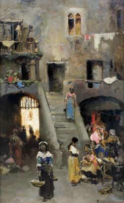 Wilhelm Kotarbinsky. Street of rome