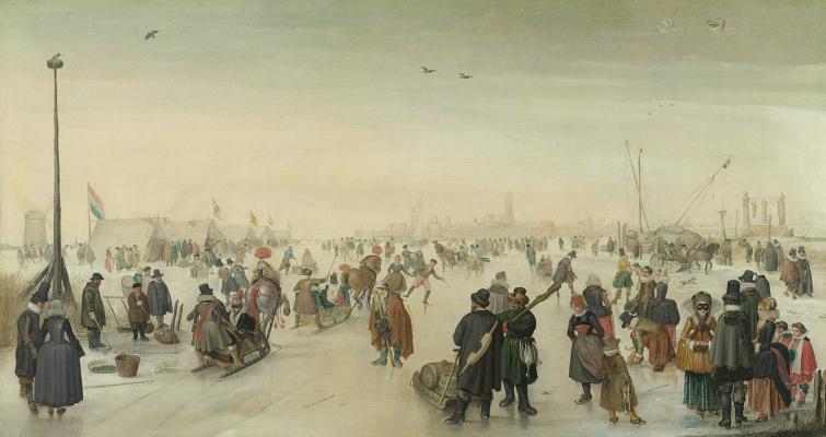 Hendrik Avercamp. Winter landscape