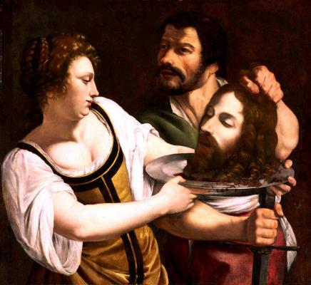 Artemisia Gentileschi. Salome with the head of John the Baptist