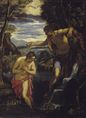 Jacopo (Robusti) Tintoretto. Baptism of Christ
