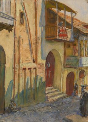 Evgeniy Evgenievich Lansere. Street in Tiflis