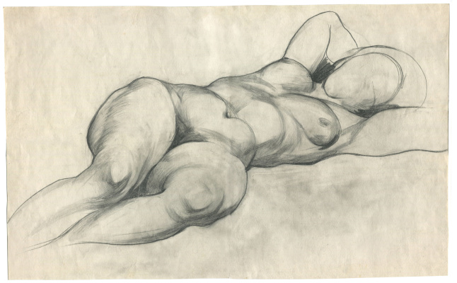 Alexandrovich Rudolf Pavlov. Drawing of a naked woman. 1980s