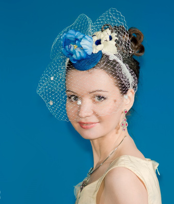 "Natalia Vladimirovna Solntseva. Hat ""Blue Tulip"""