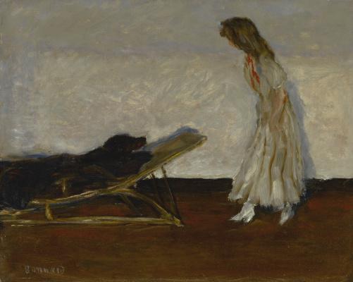 Pierre Bonnard. Mar and black dog