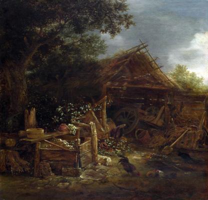 Изак ван Остаде. Скотный двор