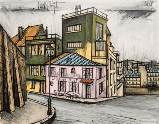 Bernard Buffet. The pink house in Montmartre