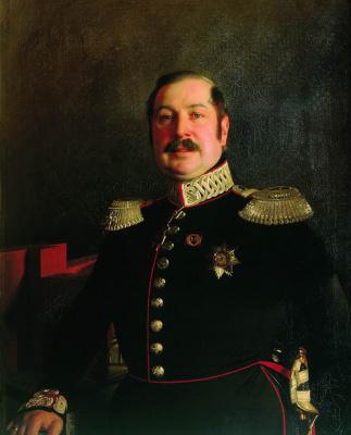 Сергей Константинович Зарянко. Портрет генерала Петра Карловича Ломновского. 1849