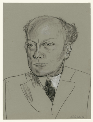 Max Beckmann. Studie zum Bildnis Gottlieb Friedrich Reber