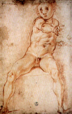 Jacopo Pontormo. Sketch for the painting of the villa in Poggio a Caiano