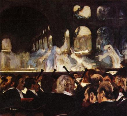"""Edgar Degas. A scene from the ballet """"Robert the devil"""""""