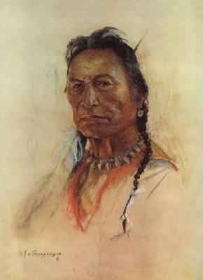 Николас де Гранмезон. Индейский портрет 45