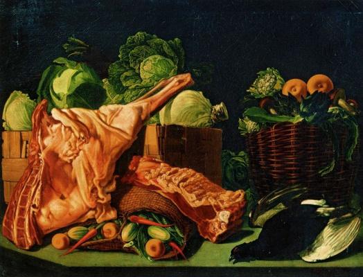 Ivan Fomich (Trofimovich) Khrutsky. Meat and vegetables