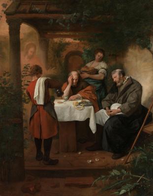 Ян Стен. Ужин в Эммаусе