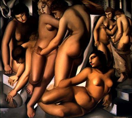 Tamara Lempicka. Three naked girls
