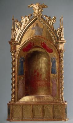 Фра Беато Анджелико. Дарохранительница с изображением Христа и ангелов