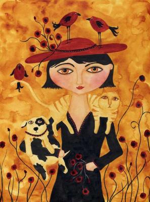 Деби Хаббс. Девушка с животными