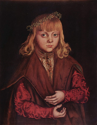 Лукас Кранах Старший. Портрет саксонского принца