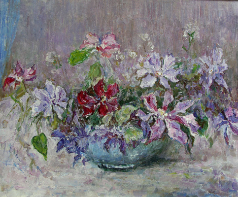 Oleg Borisovich Zakharov. The bouquet in the bowl.