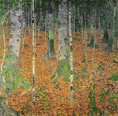 Густав Климт. Березовая роща I