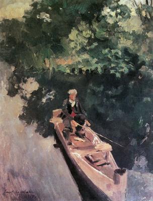 Konstantin Korovin. In the boat