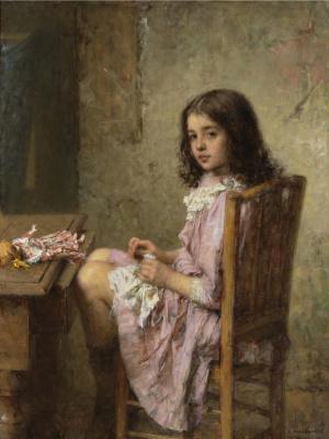Алексей Алексеевич Харламов. Маленькая швея. 1910