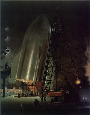 Чесли Бонестелл. Лунный корабль