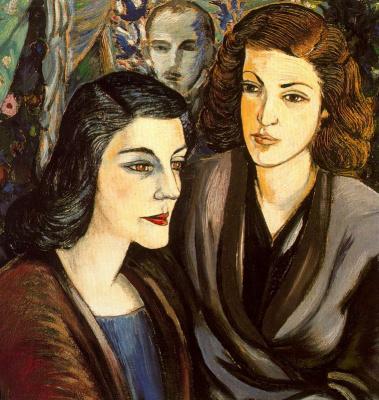 Рафаэль Сабалета. Две женщины и автопортрет-бюст