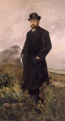 Игнасио Пиназо Камарленч. Портрет мужчины в черном