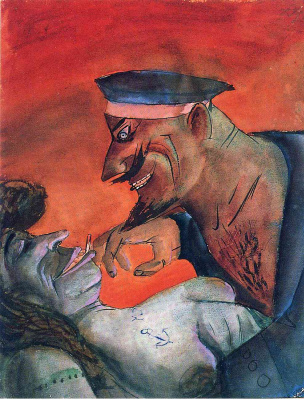 Otto Dix. The sailor and the prostitute