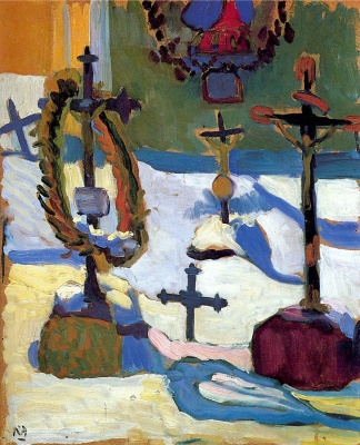 Gabriele Münter. Crosses in the cemetery