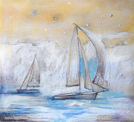 Дарья Воробьева. Snow sailing