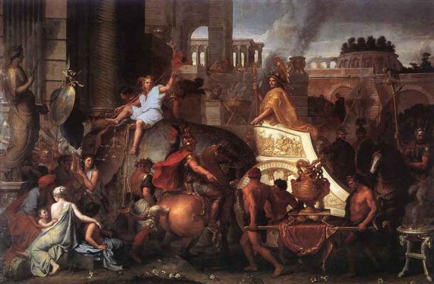 Шарль ле Брюн. Вступление Александра в Вавилон