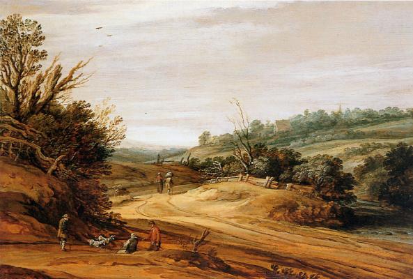 Ван Питера Сантвурт. Дюнный пейзаж
