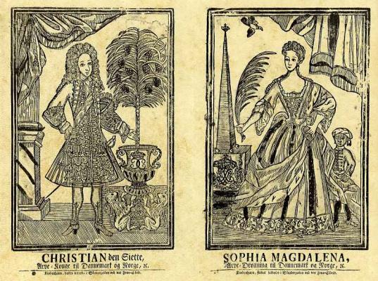 Король Кристиан VI и королева София Магдалена Датские