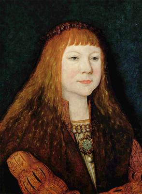 Бернхард Штригель. Портрет Людовика II Венгерского