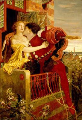 Форд Мэдокс Браун. Ромео и Джульетта. Знаменитая сцена на балконе