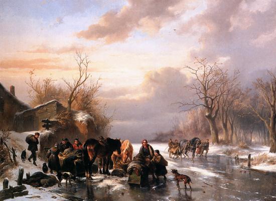 Вальтер Версхюр. Зимний пейзаж